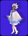 Снежинка голубая